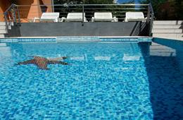 sunbeds and pool in trogir croatia